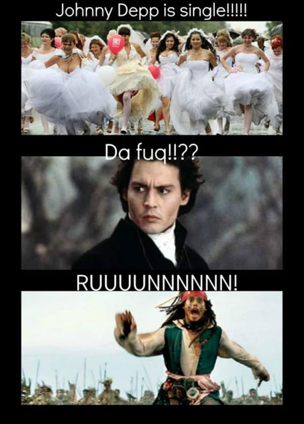 johnny depp is single funny pictures