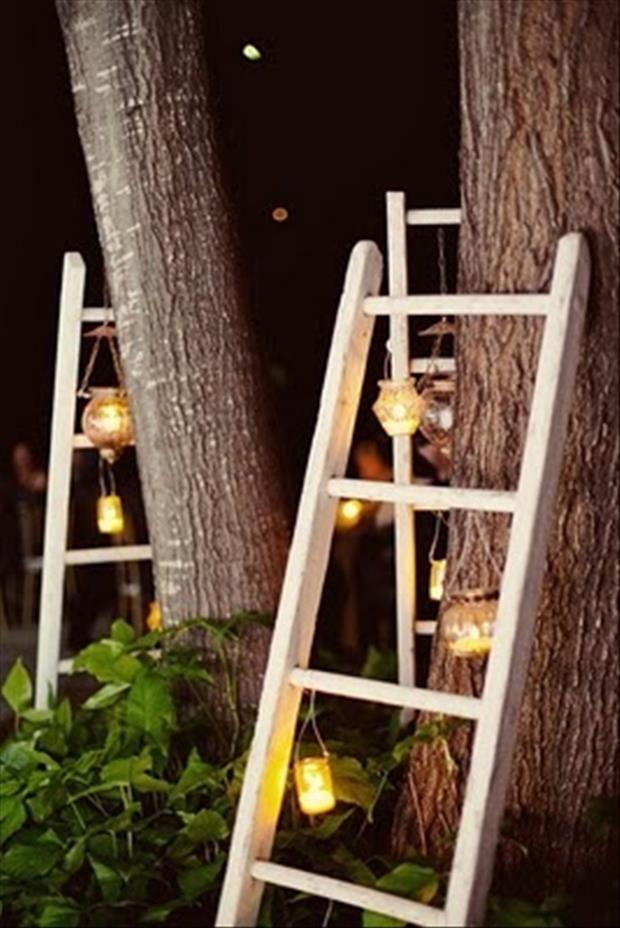ladders in your garden fun ideas