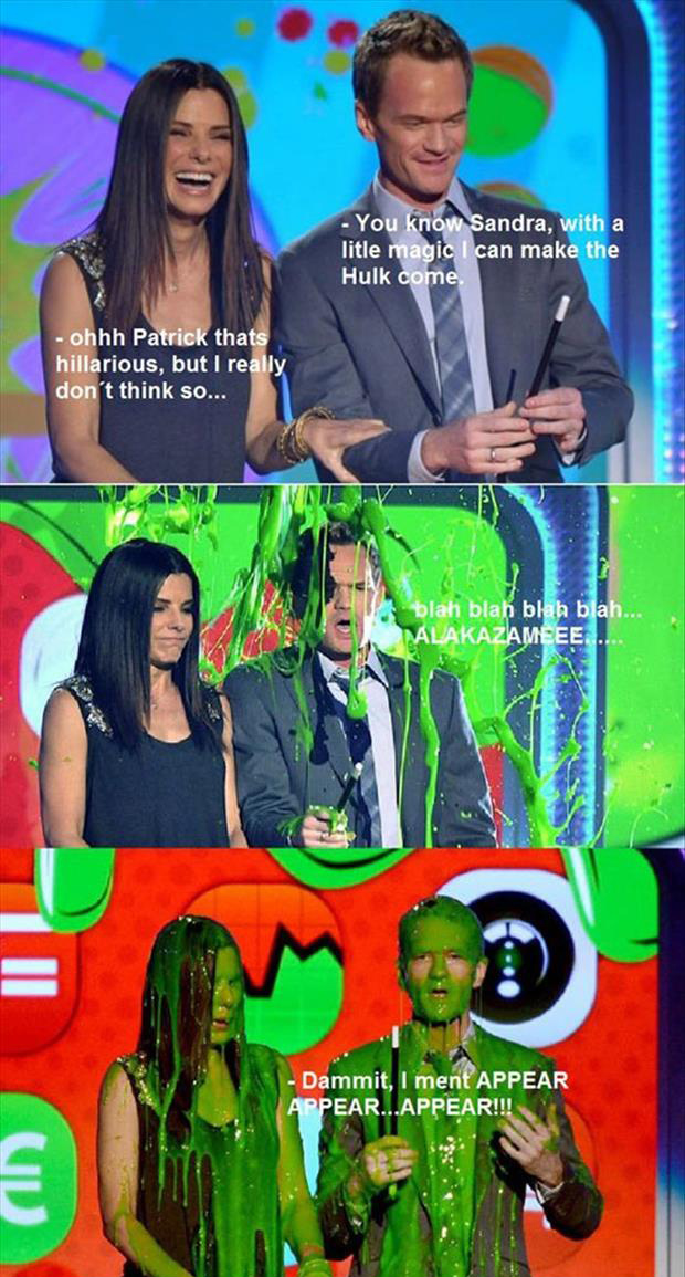 neil patrick harris and sandra bullock at kids choice awards