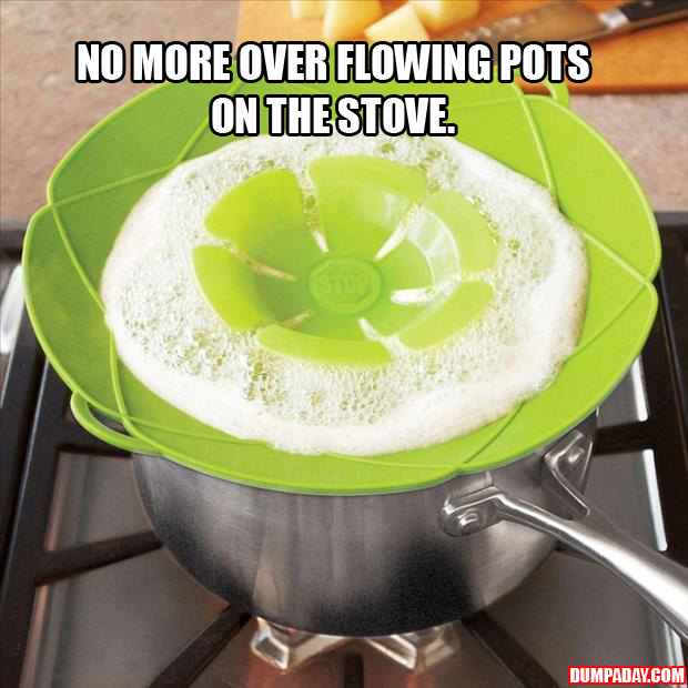 no more over flowing pots on the stove