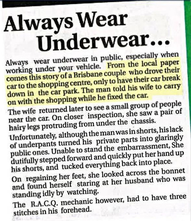 no underware
