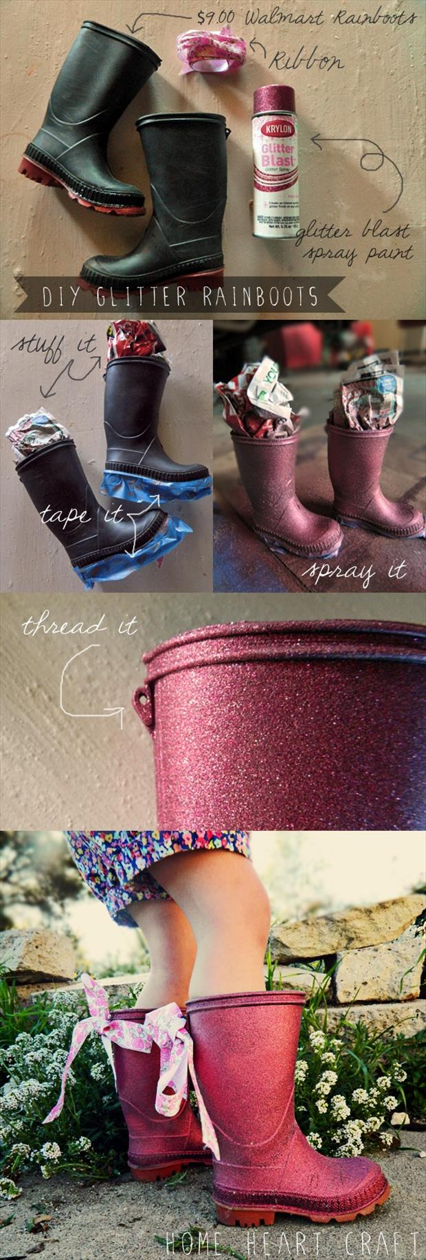 painted boots fun craft ideas