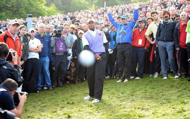 perfectly timed pictures tiger woods golf