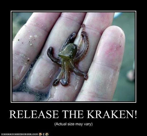 release the krackin demotivational posters
