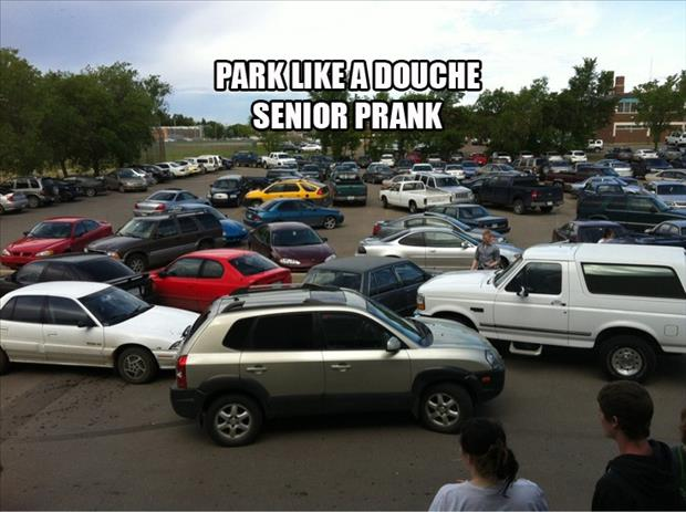 senior pranks funny parking day