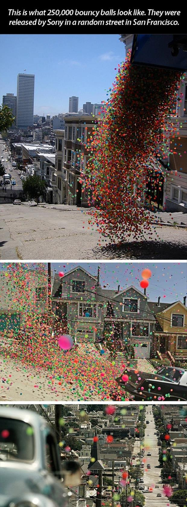 sony launches 250,000 bouncy balls (1)