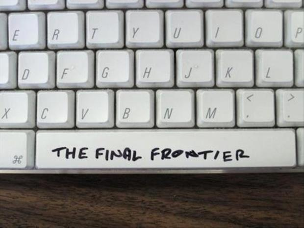 space bar the final frontier