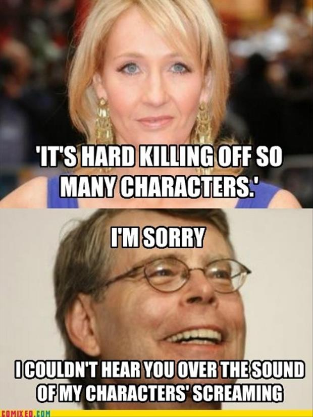 stephen king and jk rowling funny pictures