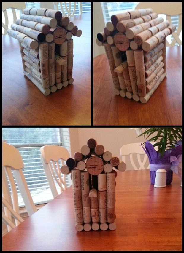 wine cork bird house fun craft ideas