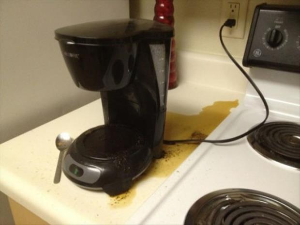 you forgot something coffee pot