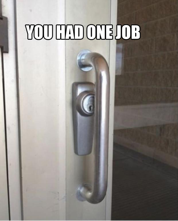 you had one door key lock