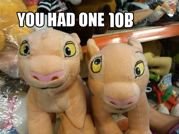 you had one job stuff animals