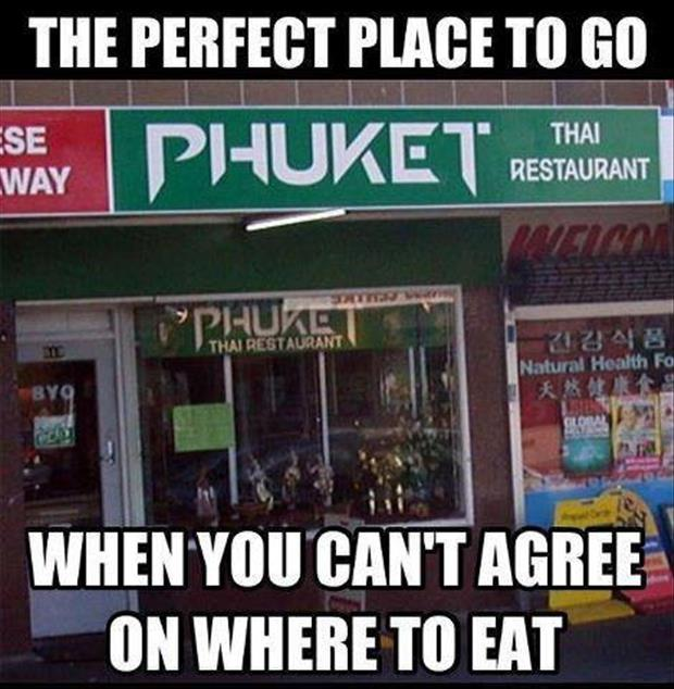 A funny pictures places to eat