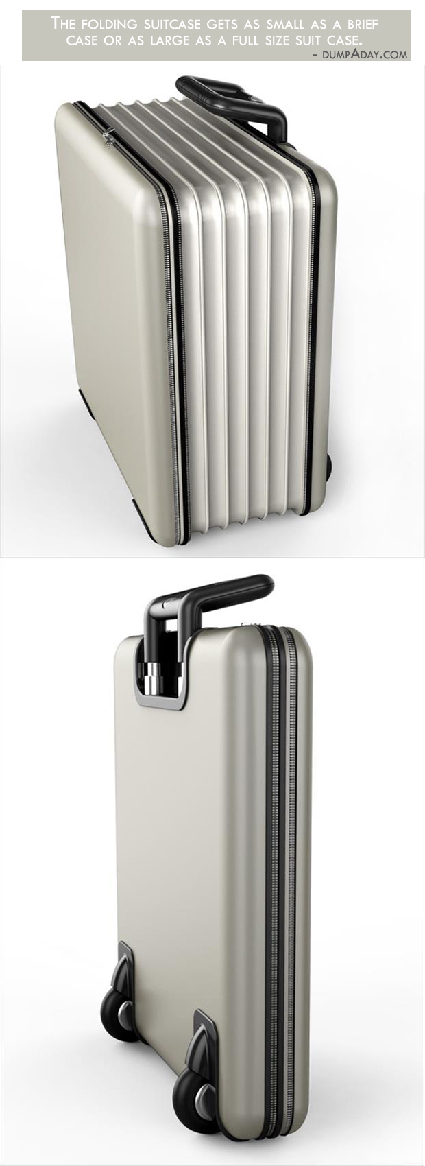 Borderline Genius Ideas- Folding Suitcase
