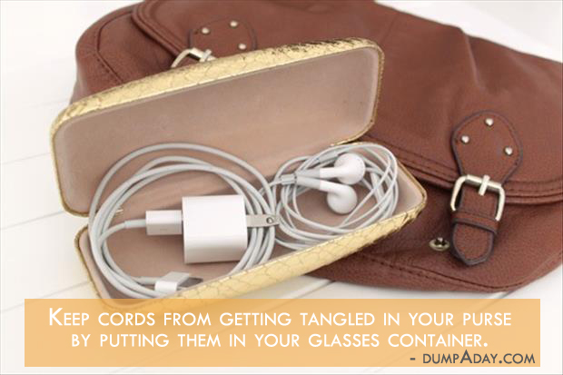 Borderline Genius Ideas- Solution for Tangled wires in purse