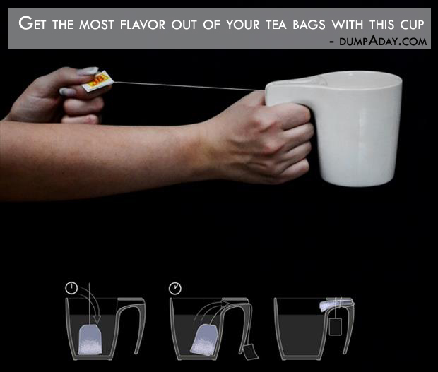 Borderline Genius Ideas- get the most flavor out of your tea bags with this cup