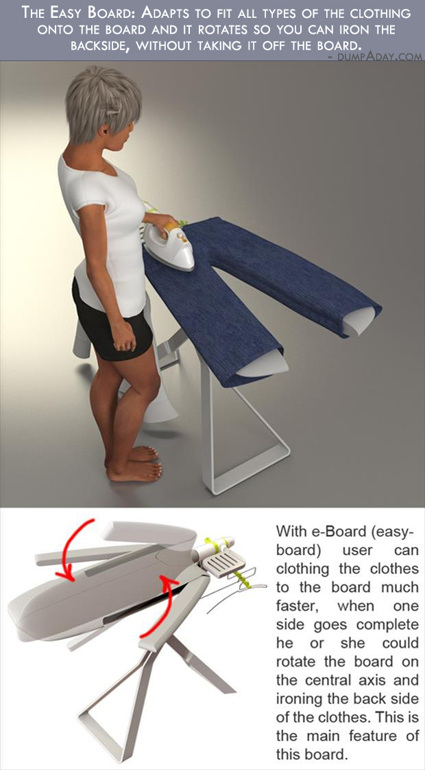 Borderline Genius Ideas- new ironing board