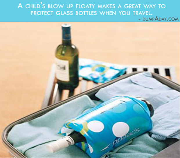 Borderline genius Ideas- Floaty bottle protector