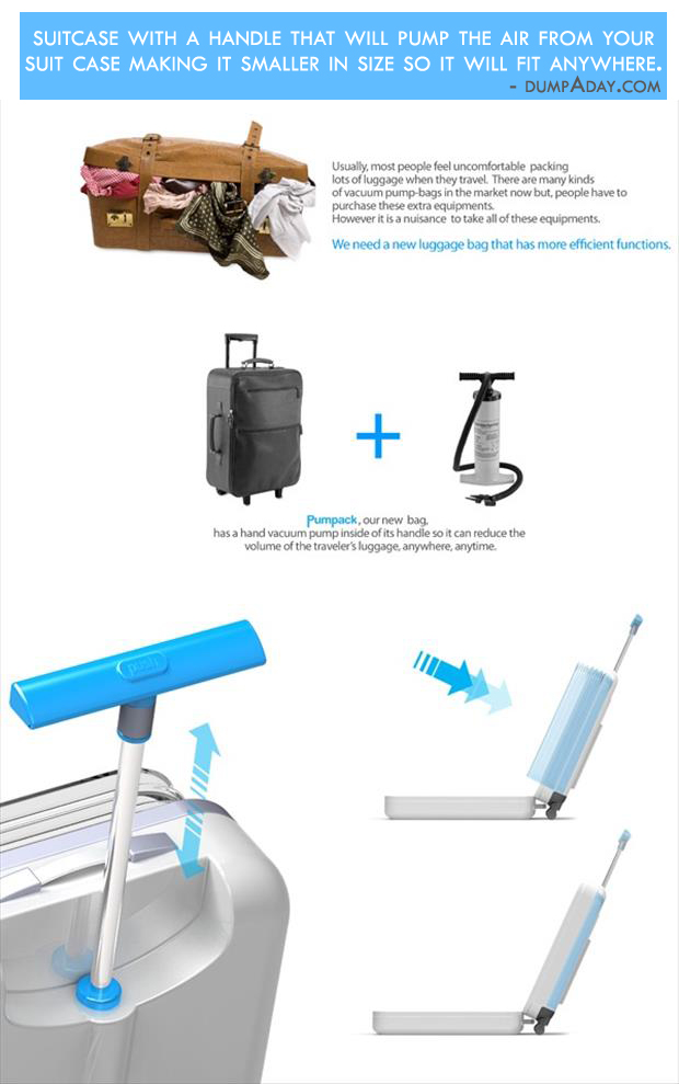 Boreline Genius Ideas- Pump Suitcase