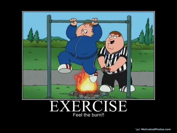 Funny fitness pictures- feel the burn