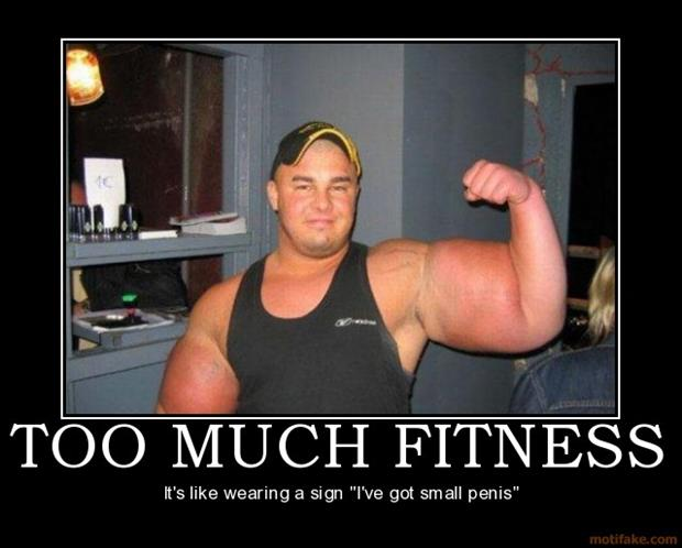 Funny fitness pictures- too much fitness