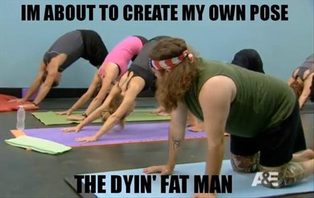 Funny fitness- the dying fatman