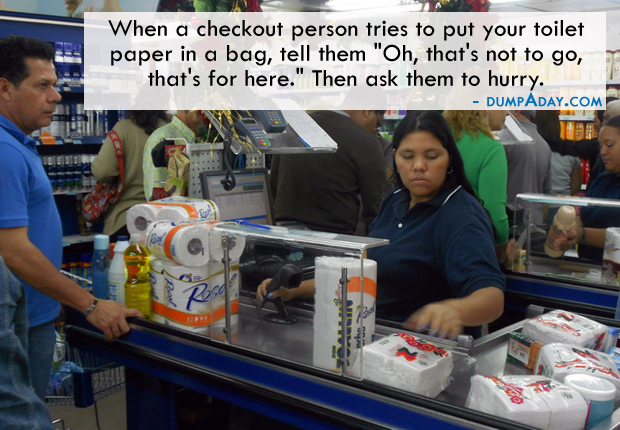 Funny pictures- Buying Toilet Paper at store