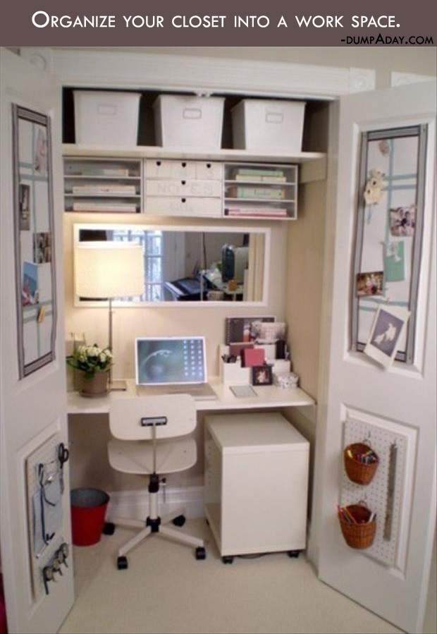 Genius Crafty Ideas- organize your closet ideas