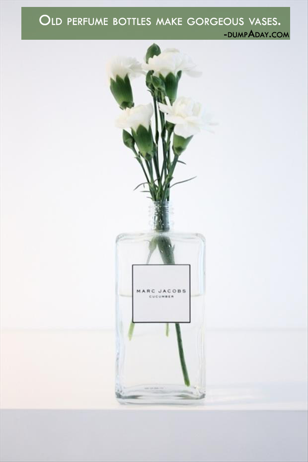 Genius Crafty ideas- Perfume bottles make gorgeous vases
