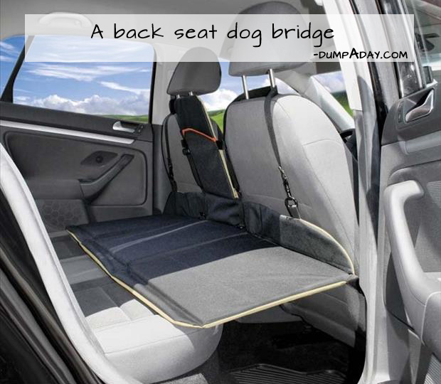 Genius Ideas- Back Seat Dog Bridge