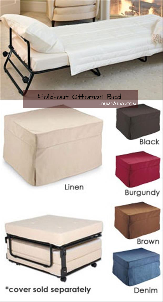 Genius Ideas- Fold-Out Ottoman Bed