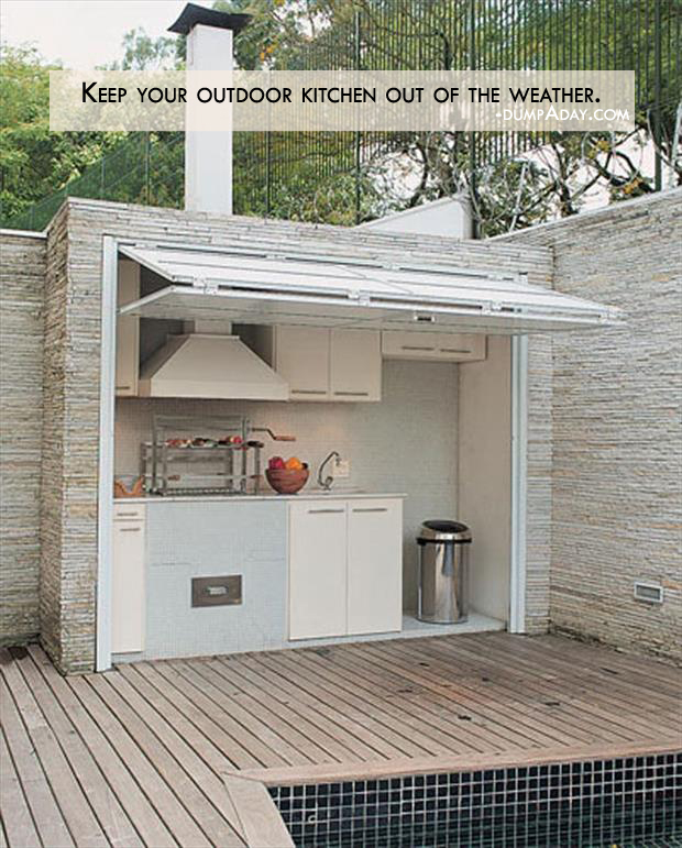 Genius Ideas- Keep your outdoor kitchen out of the weather