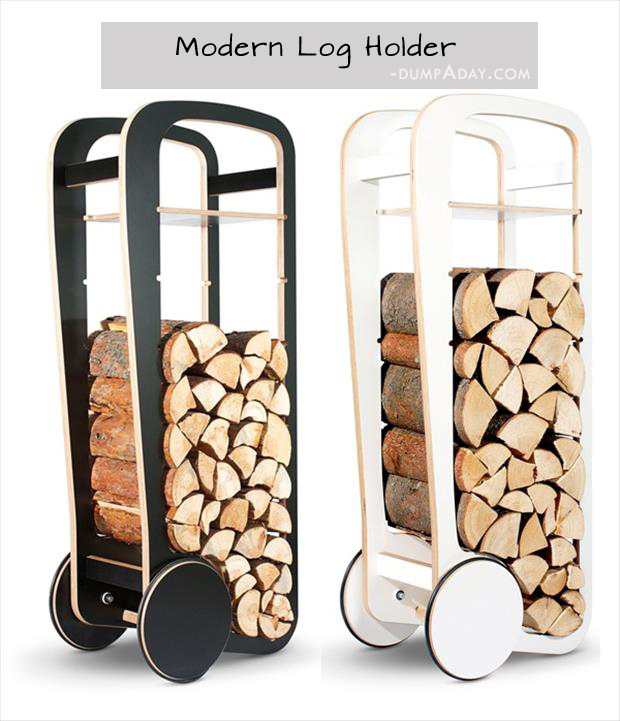 Genius Ideas- Modern Log Holder