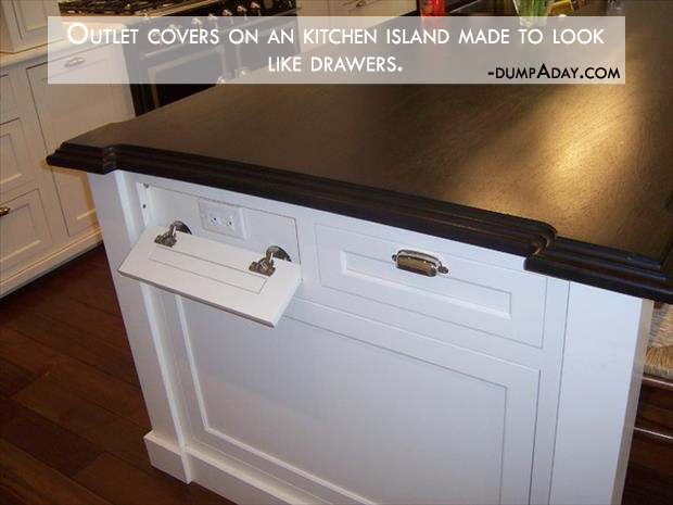 Genius Ideas- Outlet covers made to look like drawers