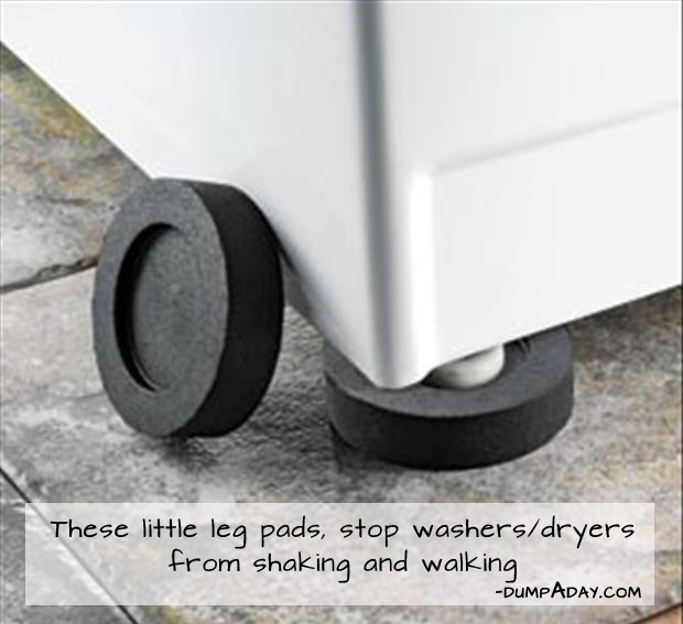 Genius Ideas- Pads Stop washer and dryer from shaking and walking