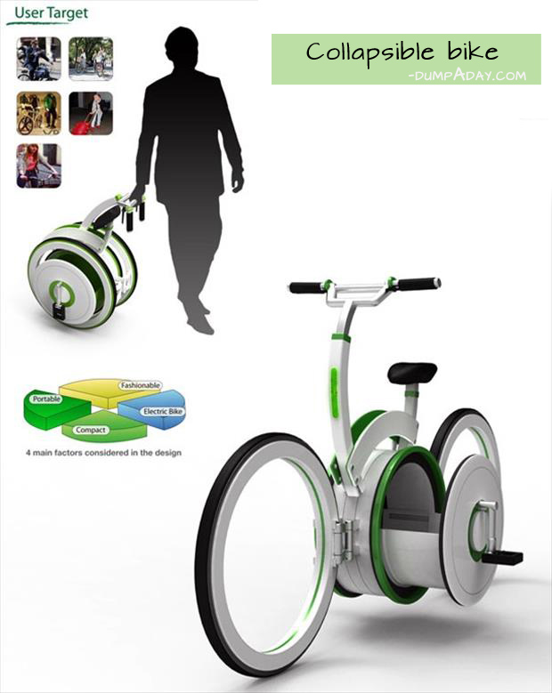 Genius Ideas- collapsible bike