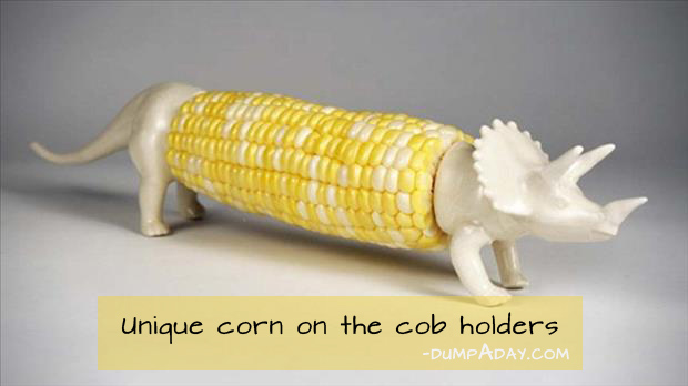 Genius Ideas- corn on the cob holders