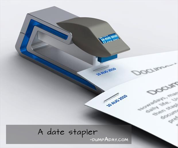 Genius Ideas- date stapler