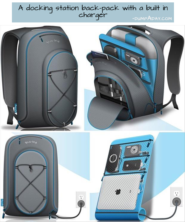 Genius Ideas- docking station back pack