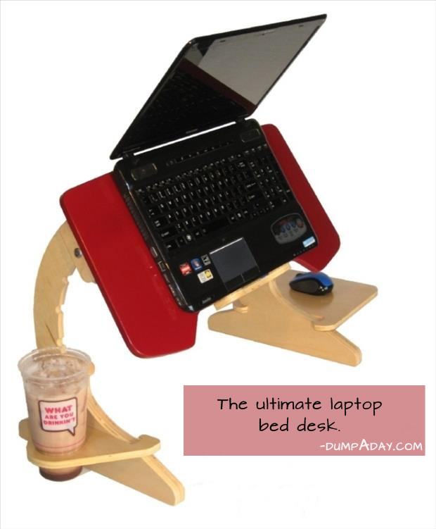 Genius Ideas- laptop bed desk