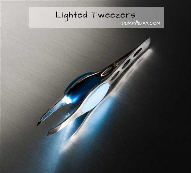 Genius Ideas- lighted tweezers