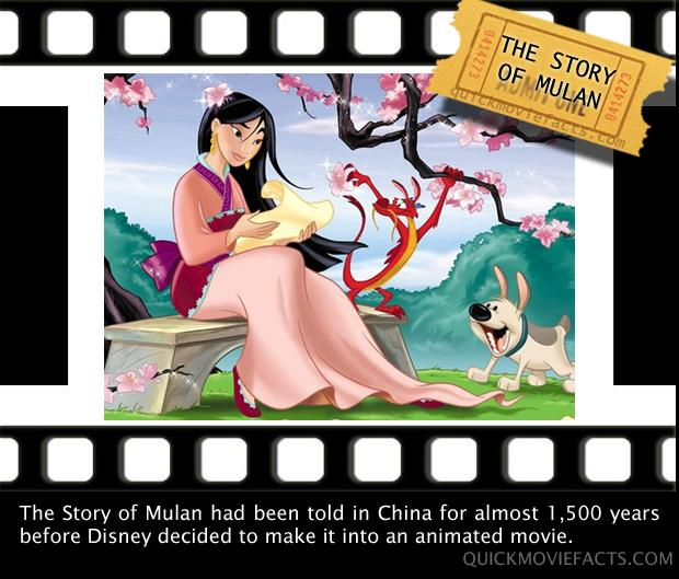 Movie Facts- The Story Of Mulan