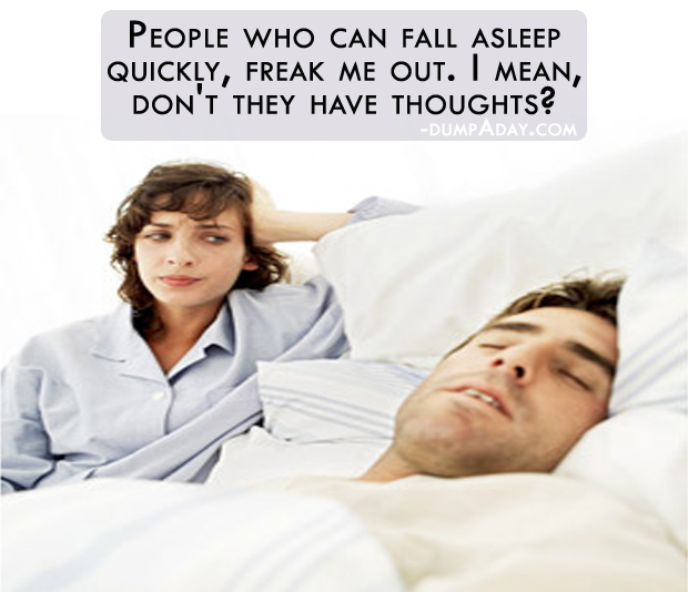 People who fall asleep quickly