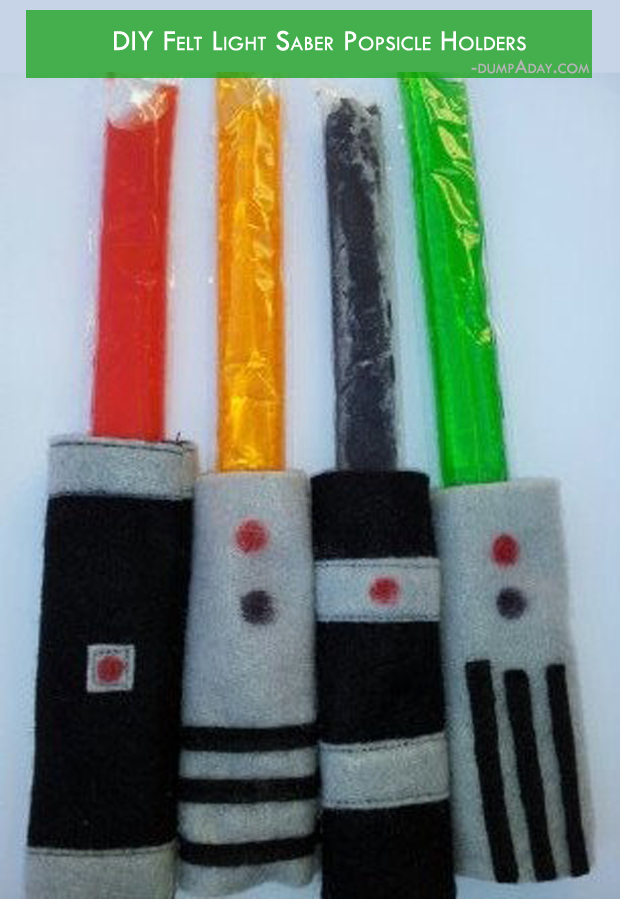 Summer fun Ideas- Felt light saber popsicle holders