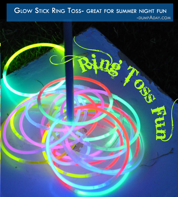 Summer fun Ideas- Glow Stick Ring Toss