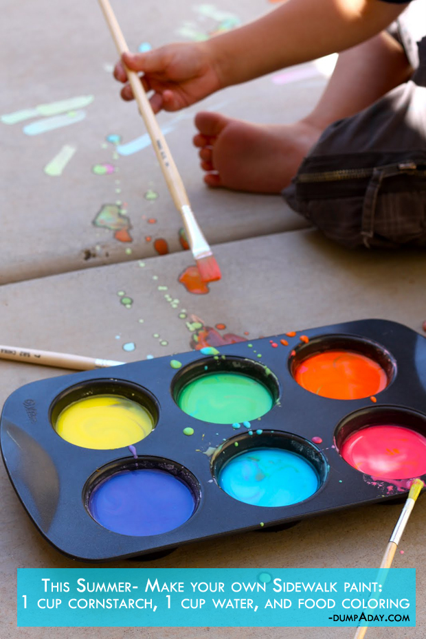Summer fun Ideas- Make your own Sidewalk paint