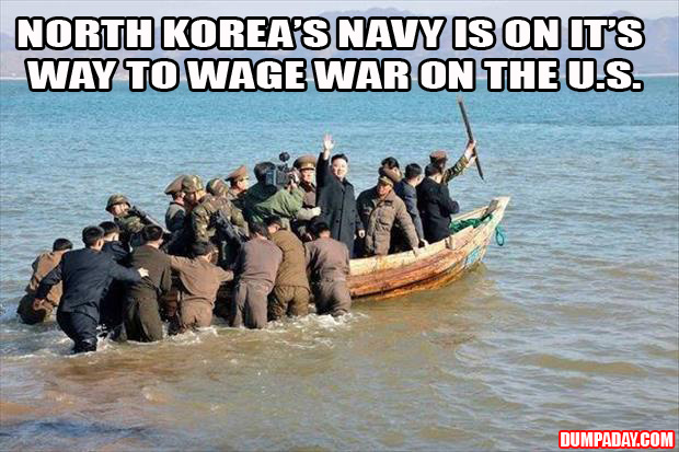 a North Korea is on the way to wage war with the united states funny pictures