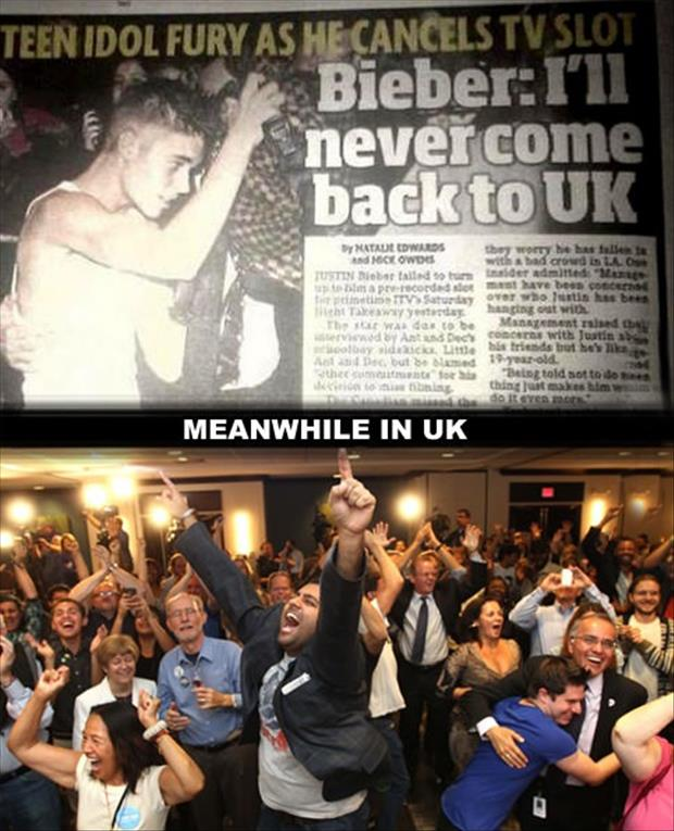a funny justin bieber vows never to go back to the uk