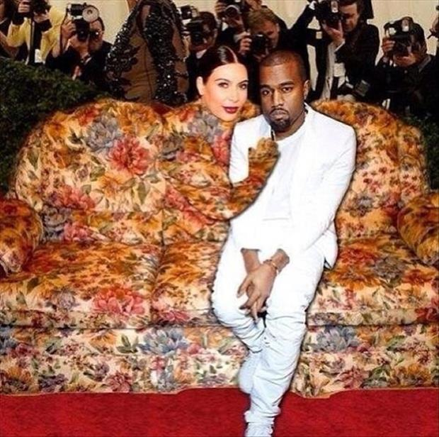 a kim kardashian dress looks like a couch