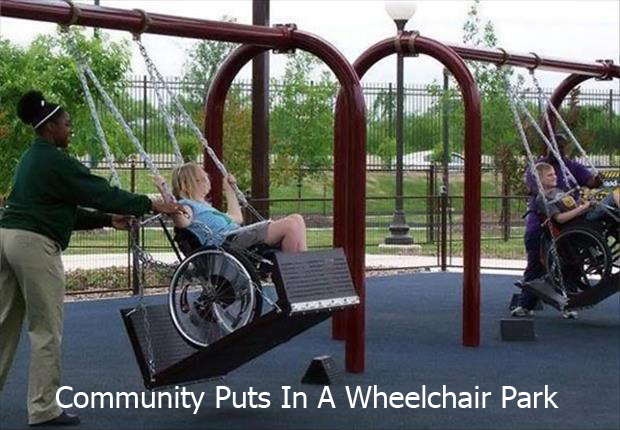 a park for kids in wheelchairs